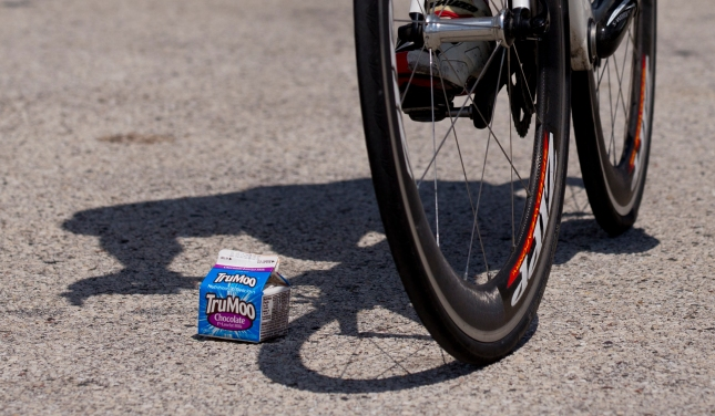 TruMoo kindly served at the Tour of America's Dairlyand race at Elkart Lake, Wisconsin by Jeffrey Phelps
